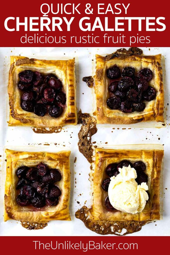 Mini Cherry Galettes Recipe with Puff Pastry