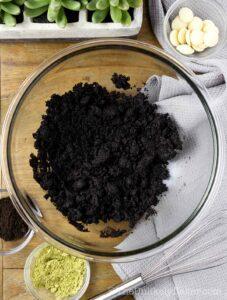 Stir crust mixture until evenly moist