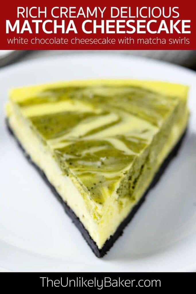 Green Tea Cheesecake Recipe