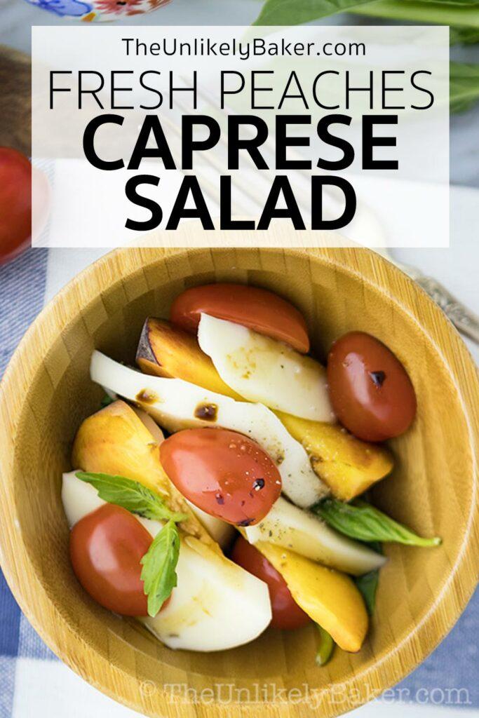 Easy Delicious Fresh Peach Caprese Salad