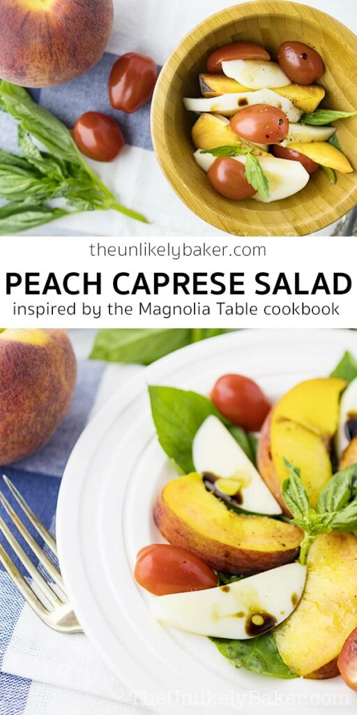 Peach Caprese Salad (inspired by the Magnolia Table Cookbook)