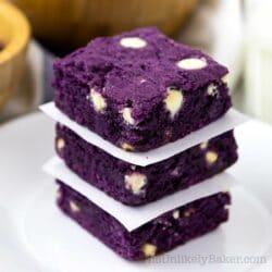 Ube Brownies Recipe (made with Ube Halaya)