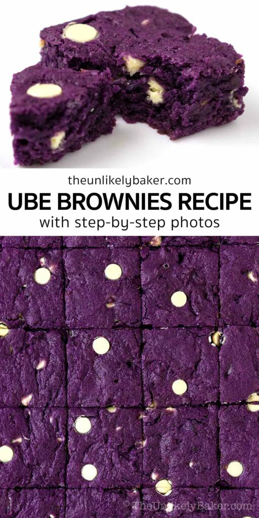 Easy and Delicious Ube Brownies