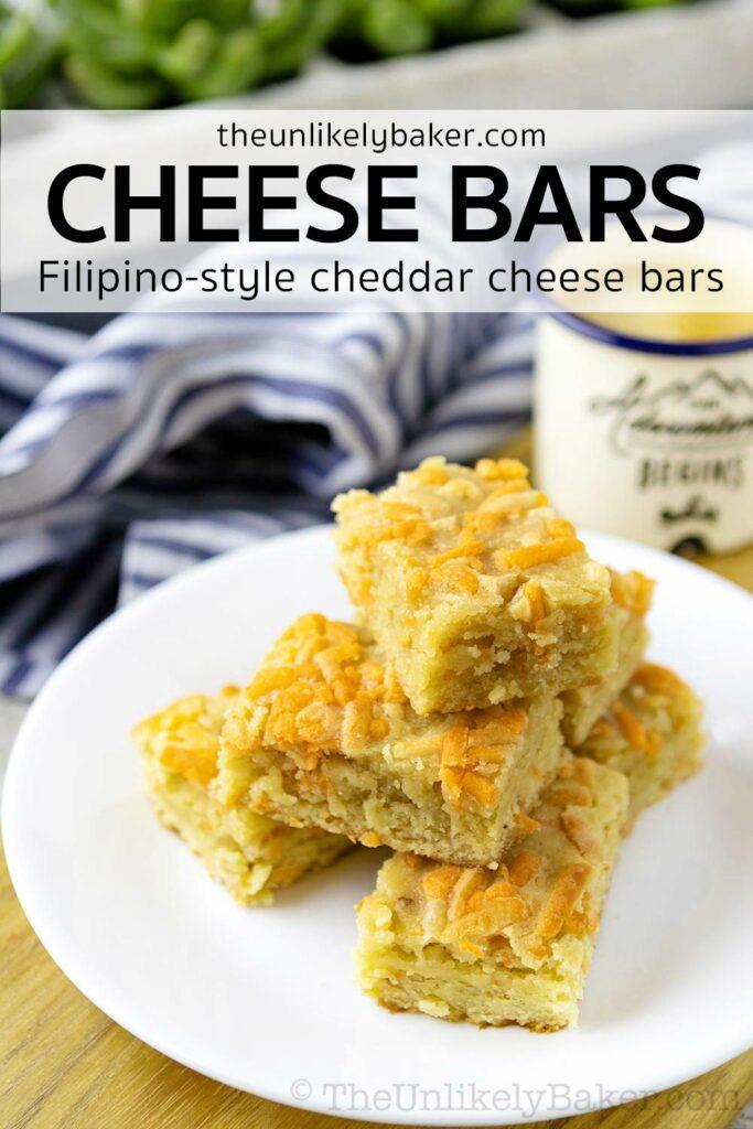 Filipino Cheddar Cheese Bars