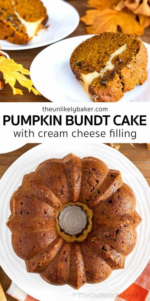 Cream Cheese Filled Pumpkin Bundt Cake
