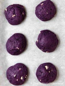 Bake cookies until set