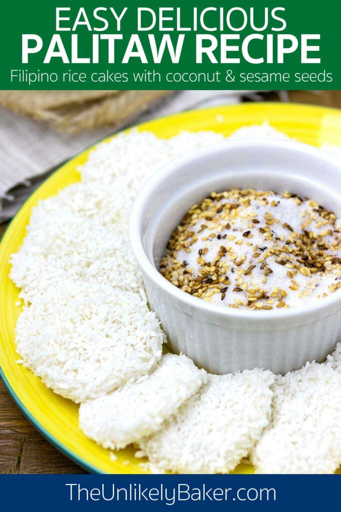 Palitaw Recipe - Filipino Rice Cakes with Coconut and Sesame Seeds