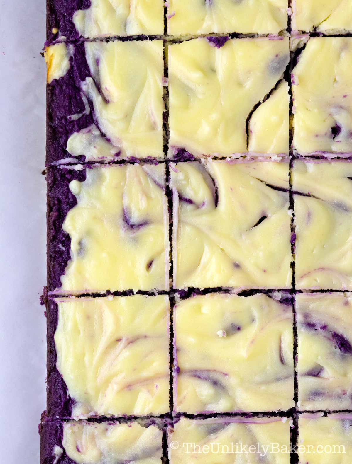 Ube Cheesecake Bars Recipe
