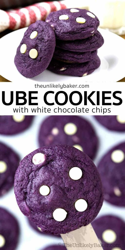 Soft and Chewy Ube Cookies